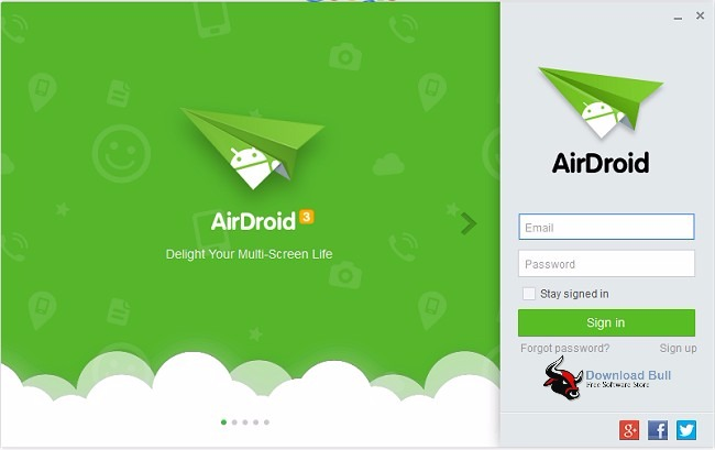 AirDroid 3.4.0.1 User Interface