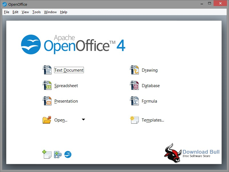 Apache OpenOffice 4.1.3 User Interface