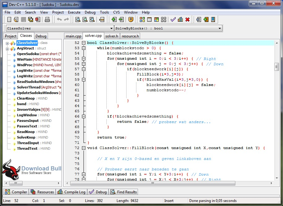 Dev-C++ Portable 5.11 User Interface