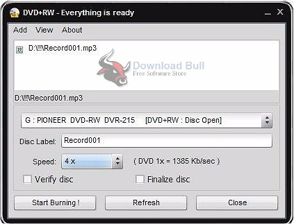 Easy Disc Burner 5.1.1.517 User Interface