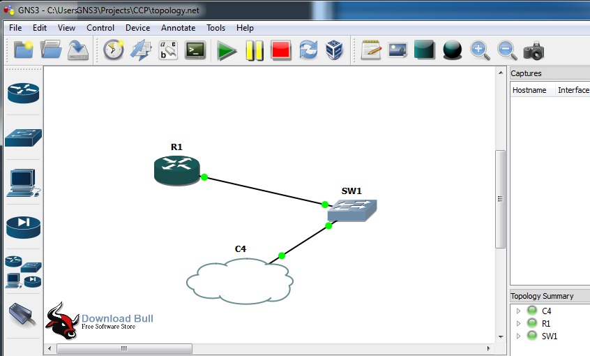 GNS3 1.5.2 User Interface