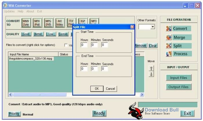 WMConverter 3.1 User Interface