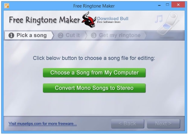 Portable Free Ringtone Maker 2.5.0.117 User Interface