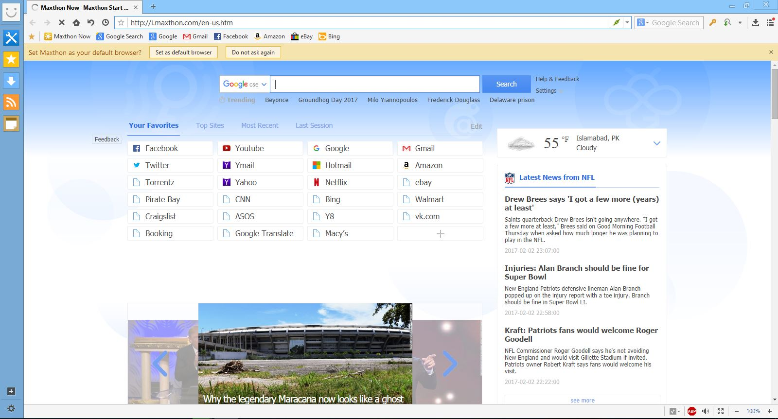 Portable Maxthon 5.0 User Interface