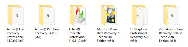 Portable Data Recovery Software Collection 2016