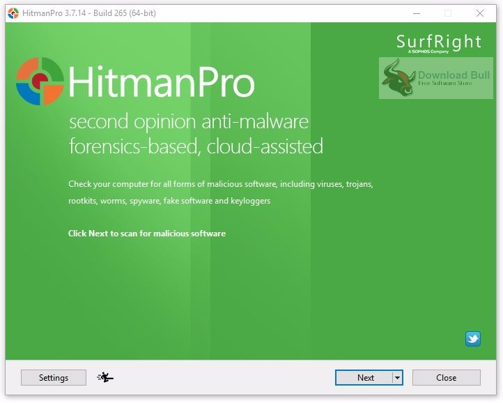 Portable HitmanPro 3.7.14 User Interface