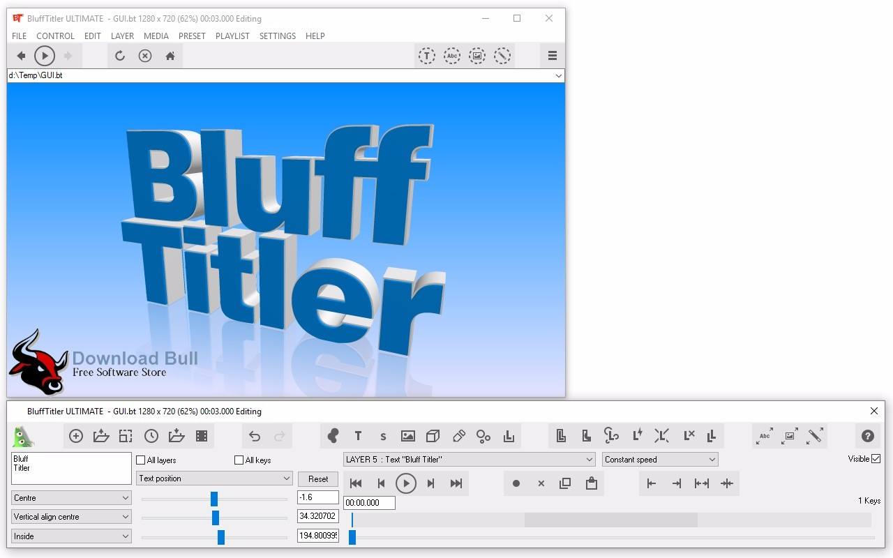 Download BluffTitler Ultimate Portable 13.3 Free