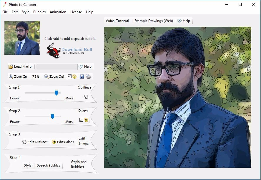 Download Caricature Software Photo to Cartoon v7.0 Portable