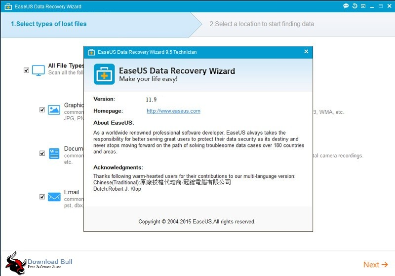 EASEUS Data Recovery Wizard Free 11.9 Overview