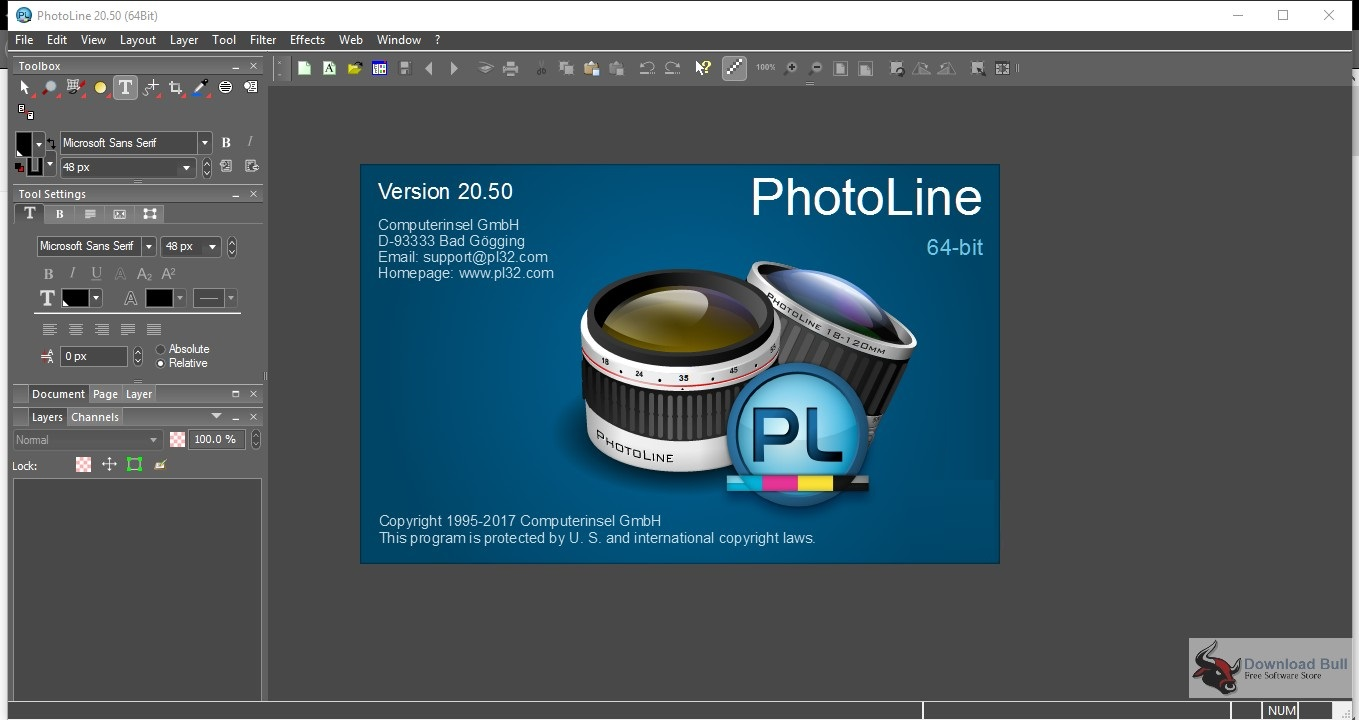 Portable PhotoLine 20.5 Overview