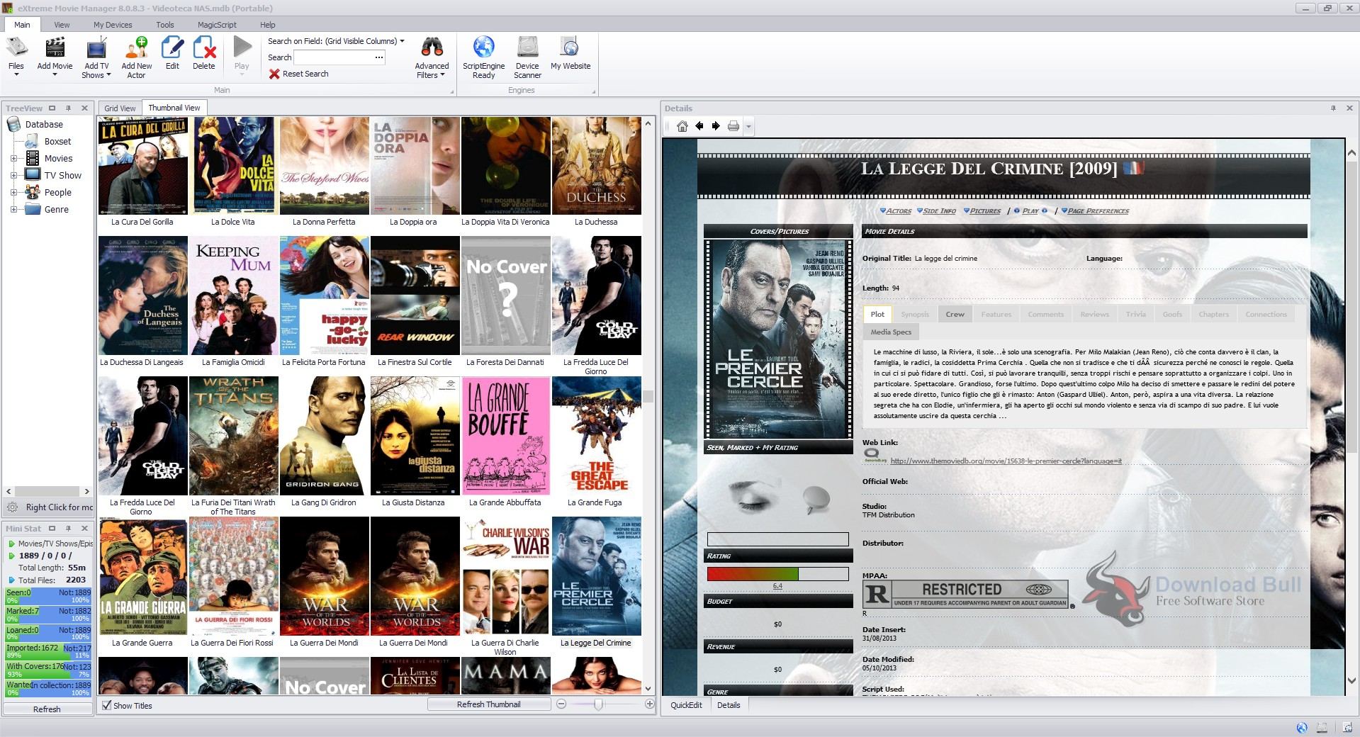 Download Portable eXtreme Movie Manager 9.0 Free