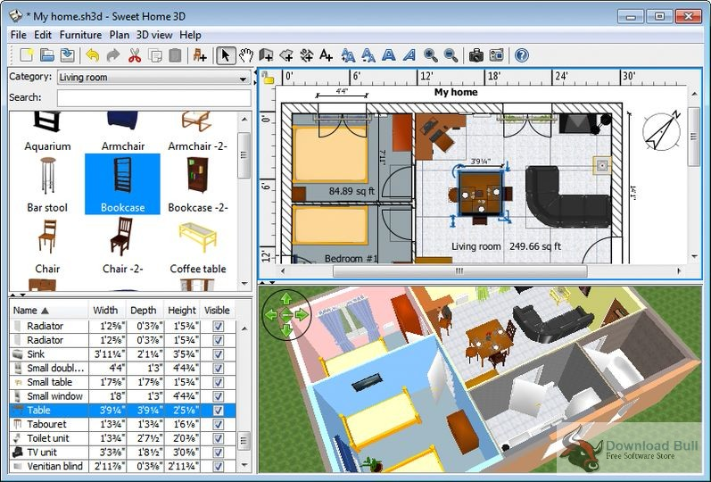 Download Sweet Home 3D 5.5 Portable