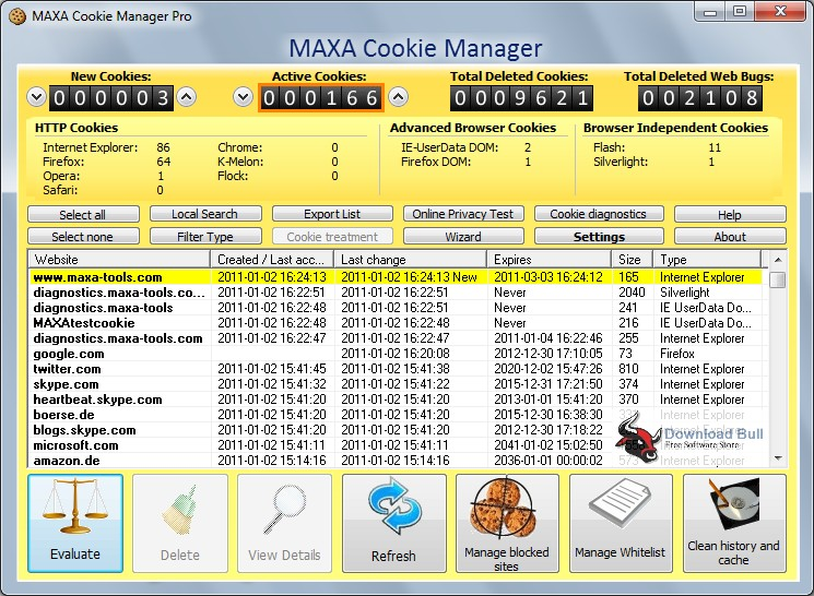 Portable MAXA Cookie Manager Pro 6.0 Review