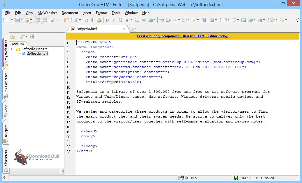 coffee cup html editor free download full version