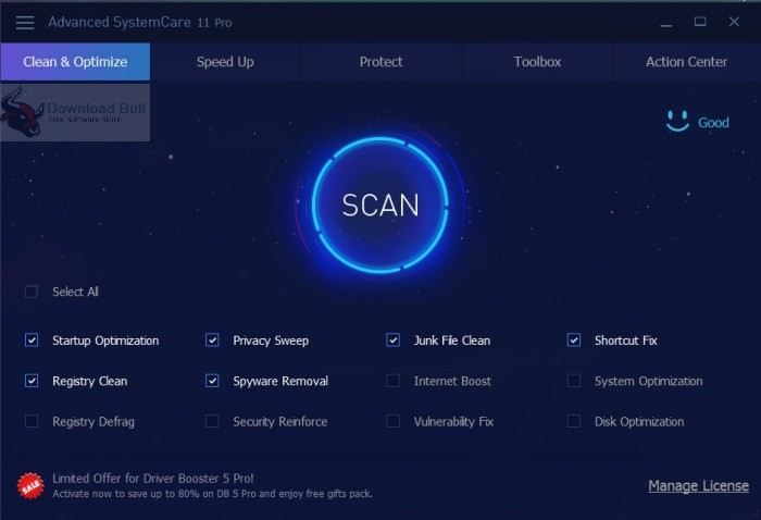 Portable Advanced SystemCare Pro 11.2 Free Download