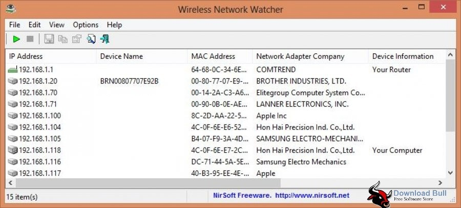 Portable Wireless Network Watcher 2.1 Free Download