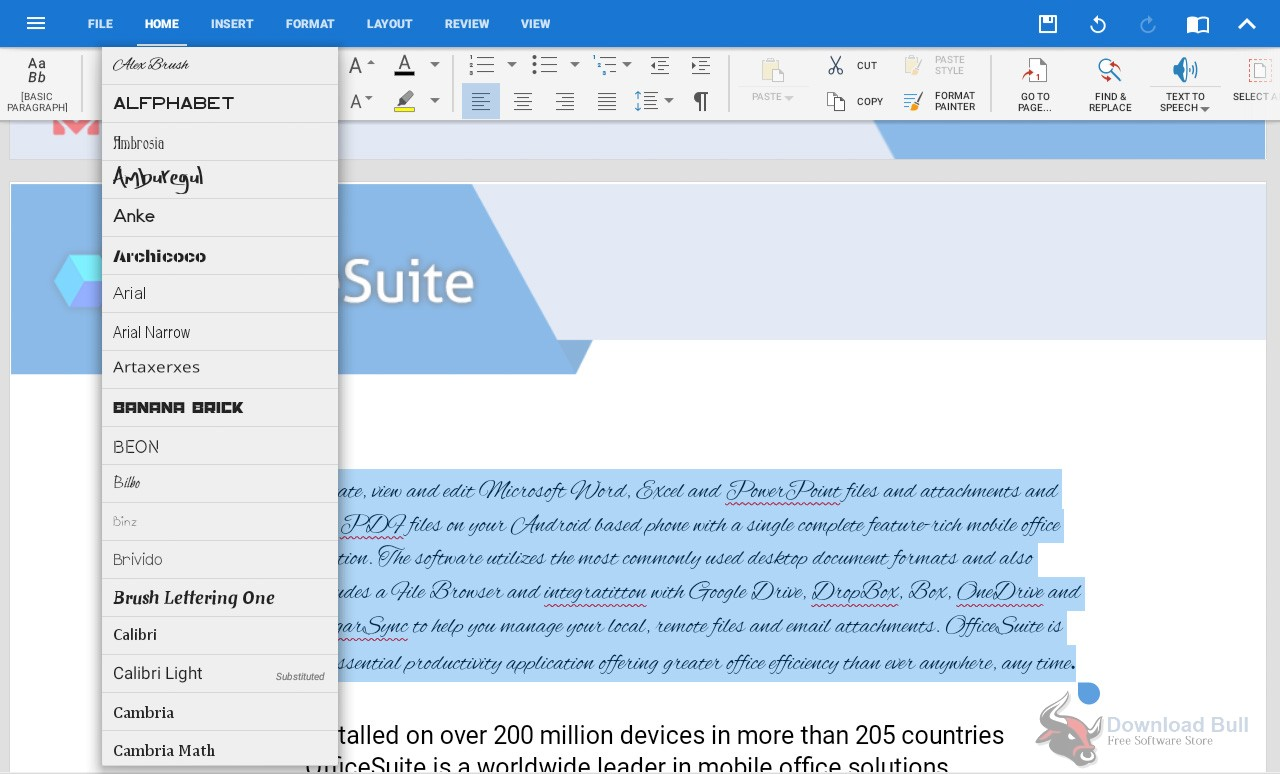 Download Portable OfficeSuite Premium Edition 2.2 Free