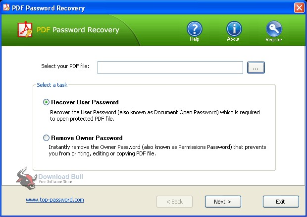 Portable Top Password PDF Password Recovery 1.9 Free Download