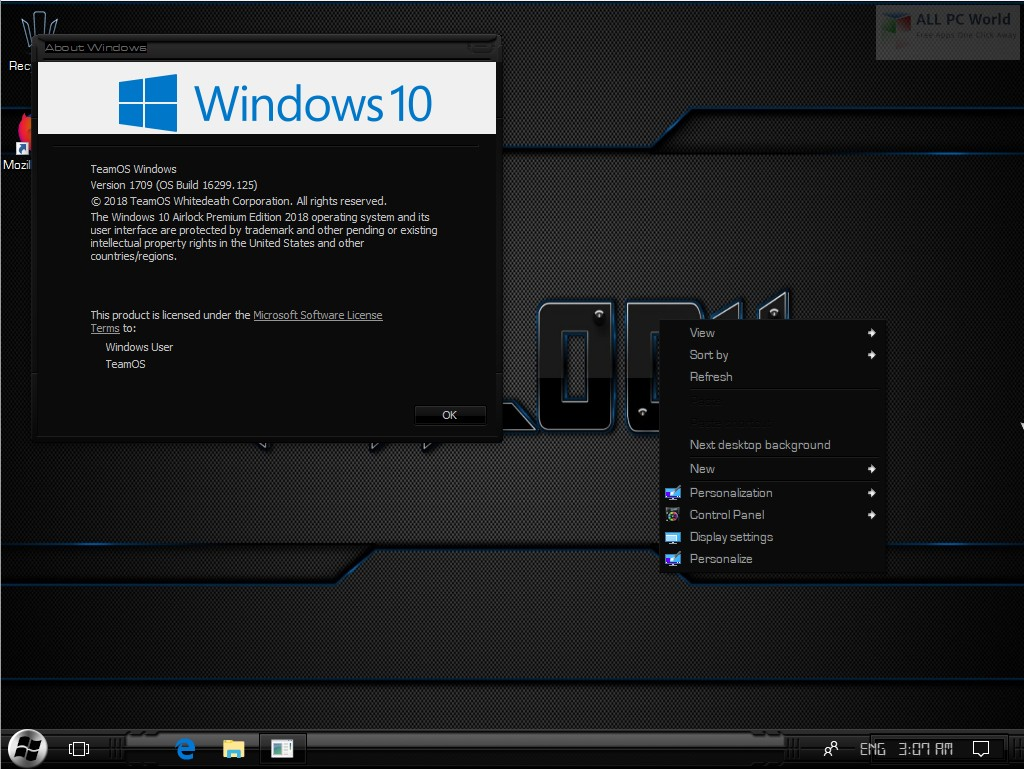 Windows 10 Airlock Premium V2 Free Download