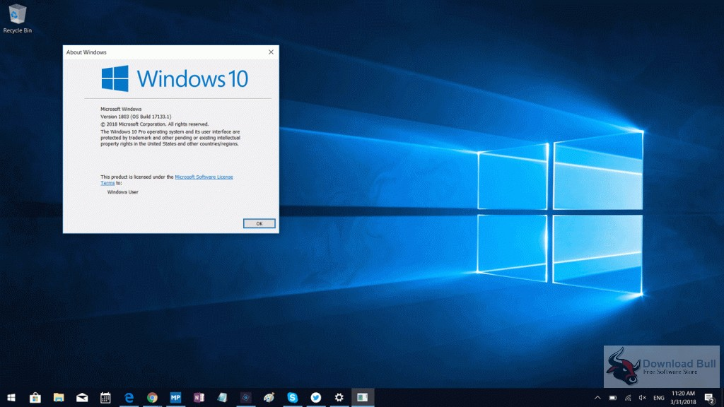 Windows 10 Pro 1803 RS4 x86 DVD ISO Free Download