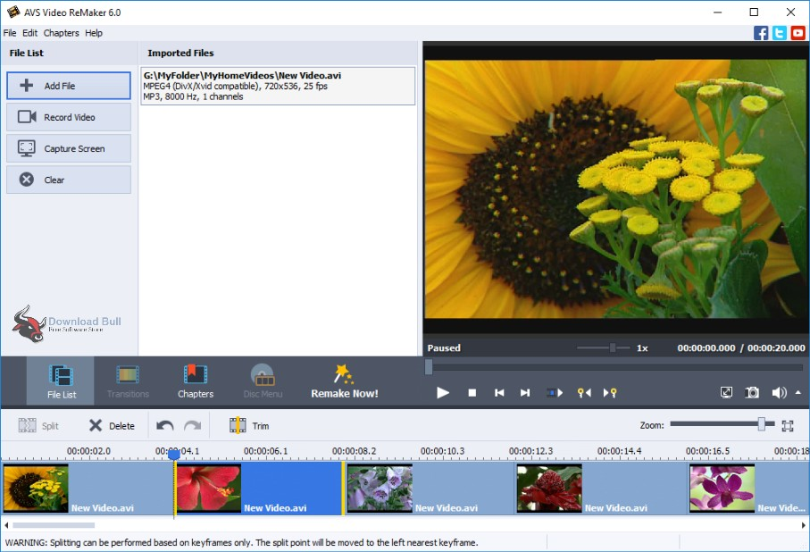 Portable AVS Video ReMaker 6.1 Free Download