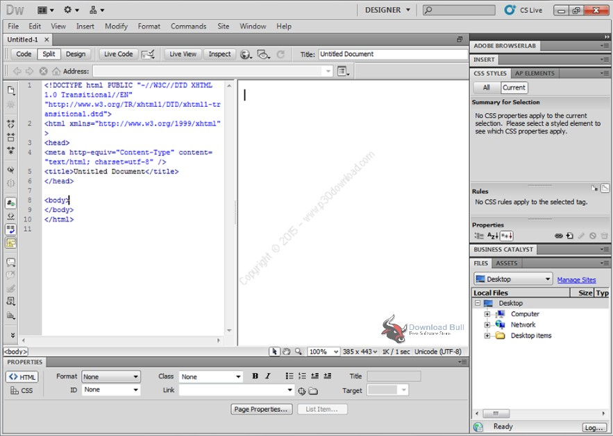 dreamweaver html download