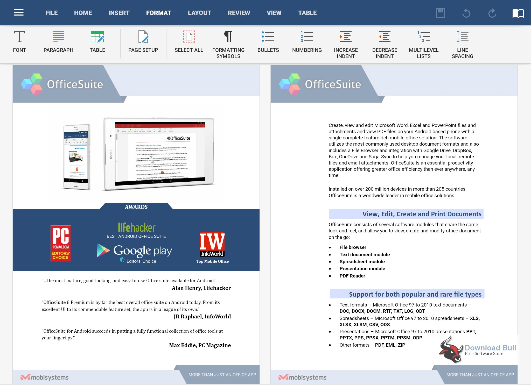 Portable MobiSystems OfficeSuite 2.7 Free Download