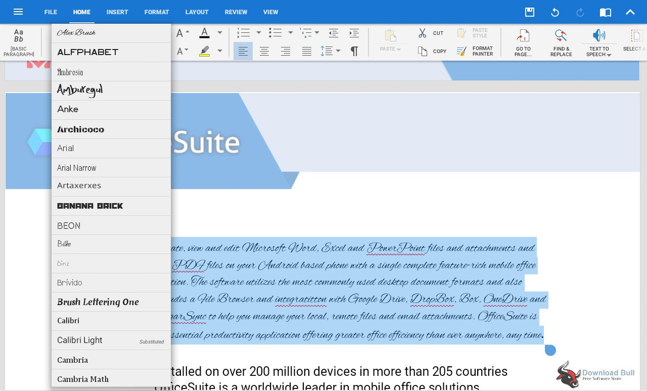 Portable MobiSystems OfficeSuite 2.7