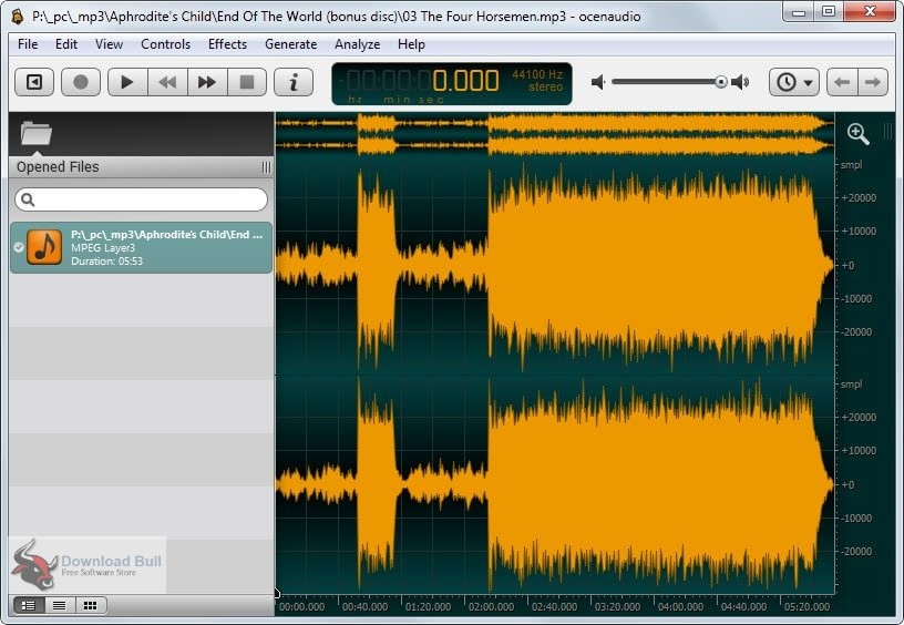 Portable ocenaudio 3.5