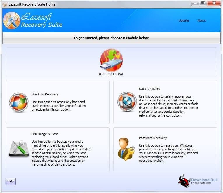 Portable Lazesoft Recovery Suite Unlimited 4.3