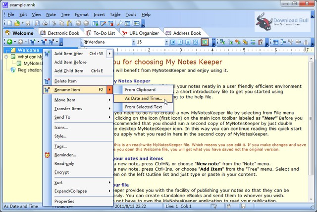 Portable My Notes Keeper 3.9 Free Download