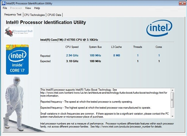 Portable Intel Processor Identification Utility 6.0 Free Download