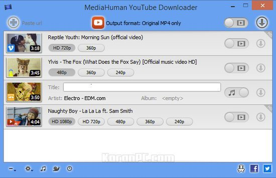 Portable MediaHuman YouTube Downloader 3.9 Free Download