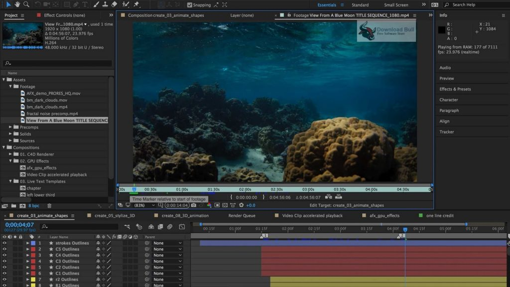 Portable Adobe After Effects CC 2019 v16.0