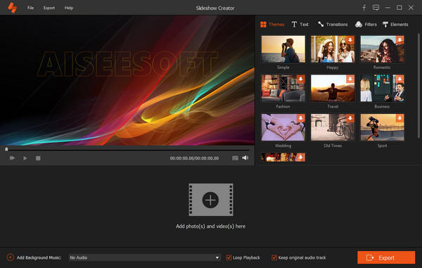 Portable Aiseesoft Slideshow Creator Free Download