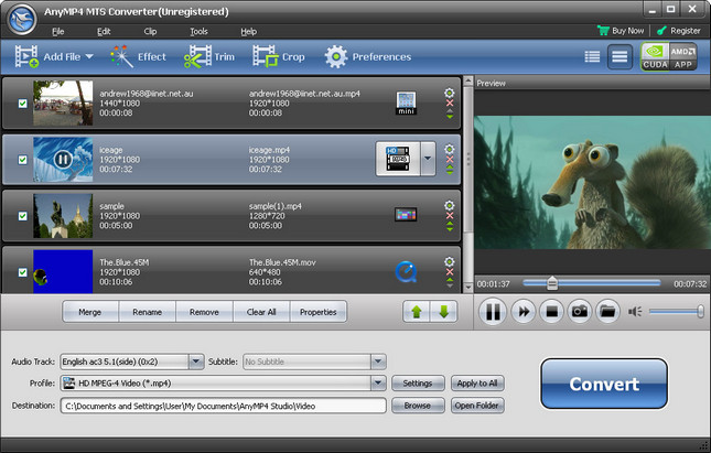 Portable AnyMP4 MTS Converter 7