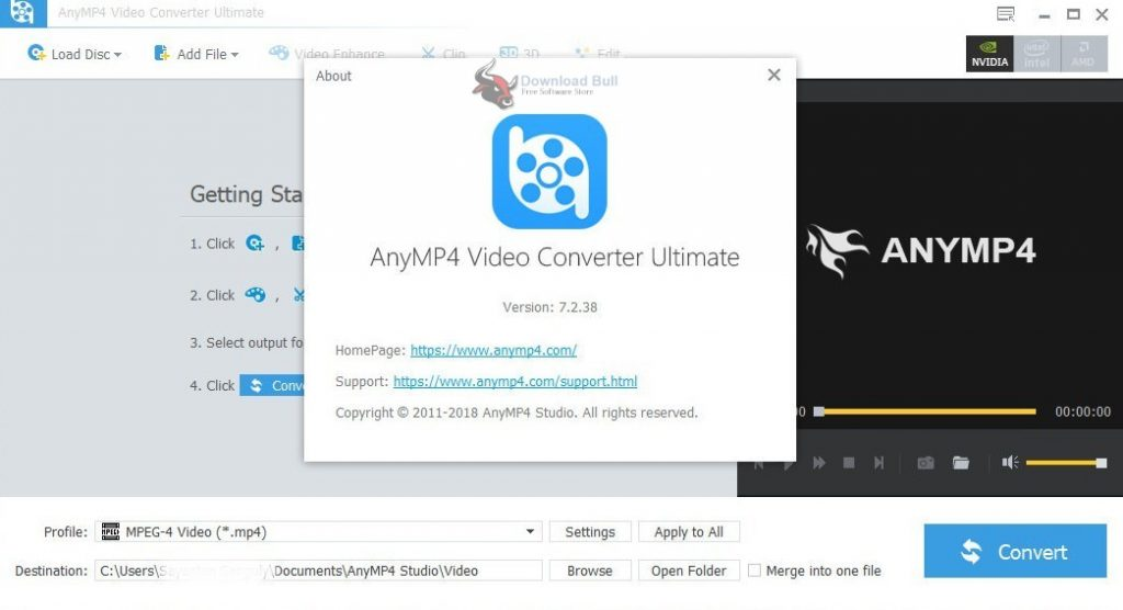 Portable AnyMP4 Video Converter Ultimate 7.2
