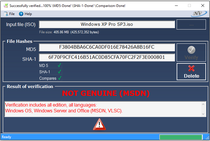 Portable Windows and Office Genuine ISO Verifier 8.8 Free Download