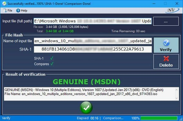 Portable Windows and Office Genuine ISO Verifier 8.8