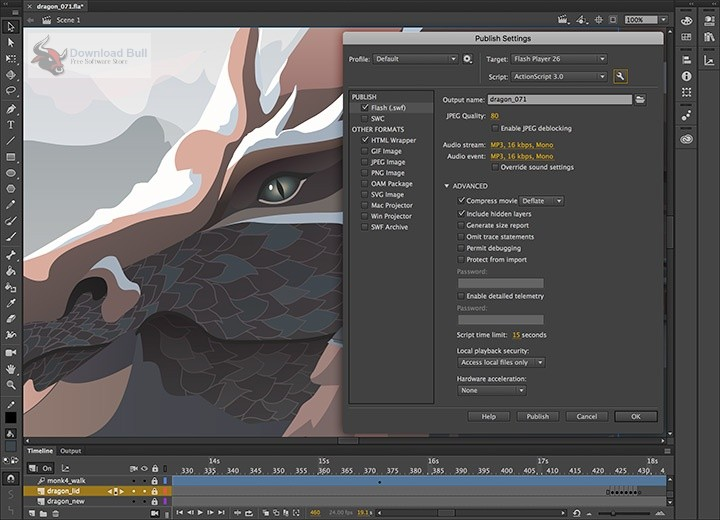 Portable Adobe Animate CC 2019 19.2 Free Download