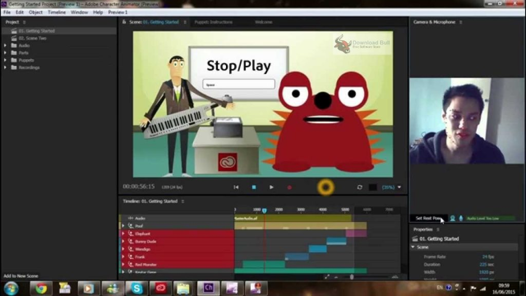 Portable Adobe Character Animator CC 2018