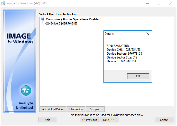 Portable TeraByte Drive Image Backup & Restore Suite 3.4 Free Download