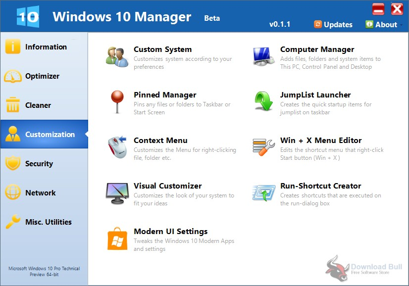 Portable Yamicsoft Windows 10 Manager 3.0 Free Download