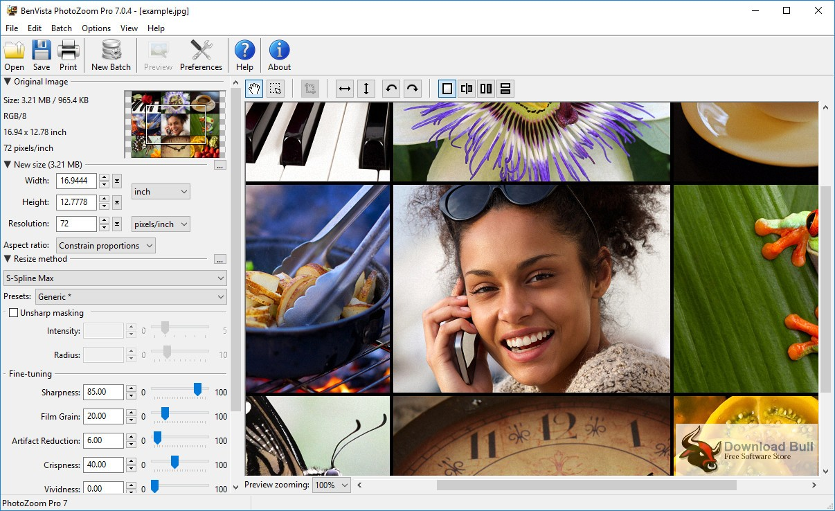 Portable BenVista PhotoZoom Pro 8.0 Free Download