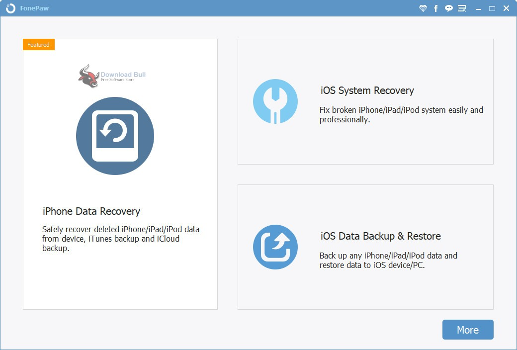 Portable FonePaw iPhone Data Recovery 6.1 Download