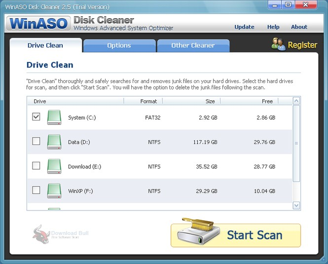 Portable WinASO Disk Cleaner 3.1