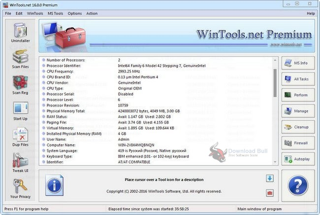 Portable WinTools.net Professional 17.7
