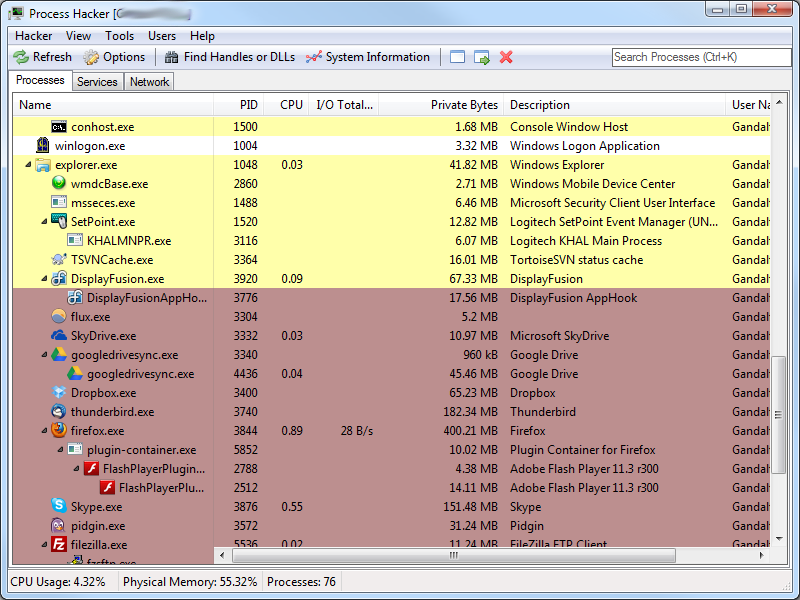 Portable Process Hacker 2.39