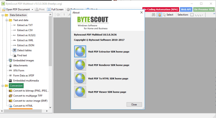 Portable ByteScout PDF Multitool 10.6 Download