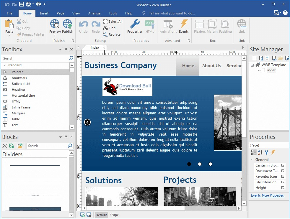 Portable WYSIWYG Web Builder 15.2 Download